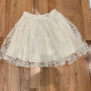 Guess floral lace midi skirt.